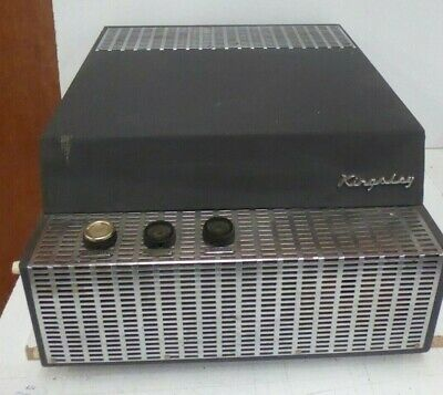 AU160 • Buy VINTAGE KINGSLEY PORTABLE RECORD PLAYER IN CARRY CASE 1960s