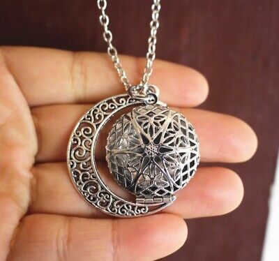 AU3.19 • Buy Essential Oil Diffuser Necklace Antique Silver Moon Aromatherapy Young Living