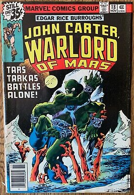$8 • Buy John Carter, Warlord Of Mars Comic (marvel,1978) #18 Bronze Age ~
