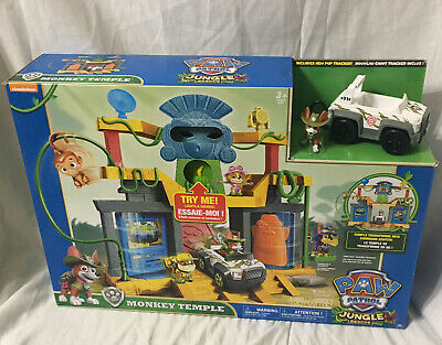 $160 • Buy PAW Patrol Jungle Rescue Monkey Temple Playset With Tracker Pup Figure & Vehicle