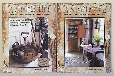$2.95 • Buy 2  A Simple Life  Magazines - Spring And Summer - 2019 - Antiques, Early Homes E