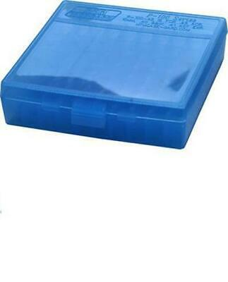 AU8.95 • Buy MTM Case-Gard 100 Round Hinged Pistol Ammo Storage Box 9mm Blue
