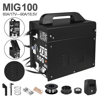 Portable MIG-100 No-Gas MIG Welder Professional 230V Welding Machine UK • 78.99£