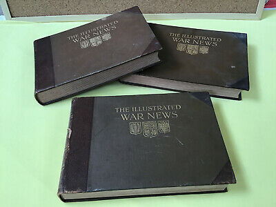 THE ILLUSTRATED WAR NEWS - VOLUMES 1, 2 & 3 (Pa) • 70£