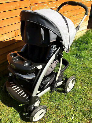 Graco Quattro Tour Deluxe Oxford Travel System Single Seat Stroller Used • 89.99£