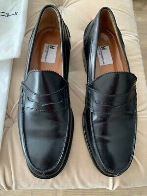 Shoes MORESCHI Man Loafers NERO/Black Natural Leather Model 215631 • 119£