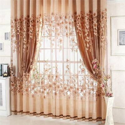 Blackout Window Curtains Room Thermal Insulated Bedroom Living Room Curtain HD • 8.99£