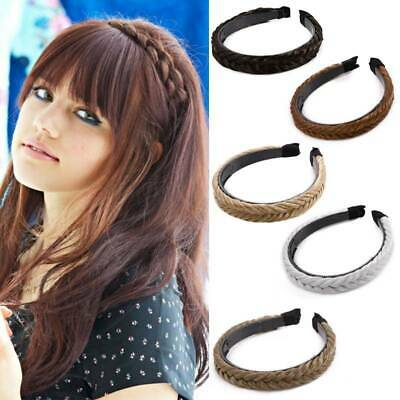 $7.91 • Buy Women Braided Synthetic Plait Plaited Elastic Hair Accessories Band Headband US