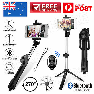AU12.95 • Buy Unipod Selfie Stick Handheld Tripod Bluetooth Shutter For IPhone 11 Pro Samsung
