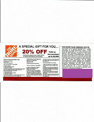 $2.29 • Buy 1 20% OFF HOME DEPOT Competitors Coupon To Use At Lowe's Exp 12/31/20