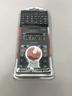 £4.34 • Buy New Sentry Two-Pack - Credit Card Calculator & Pocket Calculator CAPD3