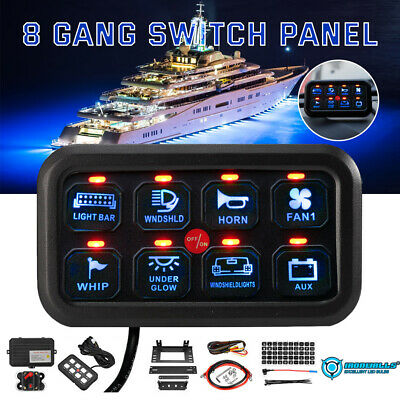 $139.26 • Buy Universal 8 Gang Switch Panel Relay System DC 12-24V On-Off Control Accessories