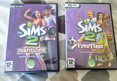 SIMS 2 - Expansion Packs - Nightlife & FreeTime PC CD ROM Age 12yrs +  • 12.99£