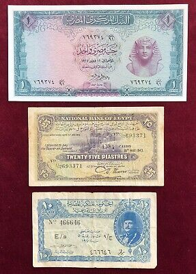$19 • Buy Egypt      10,25 Piastres, 1 Pound     1943-67       Fine To About Uncirculated
