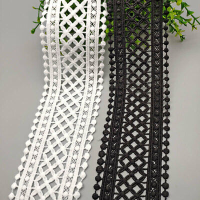 Crocheted Lace Fabric Trim Dress Clothes Sewing Edging Trimming Craft Embroidery • 2.99£