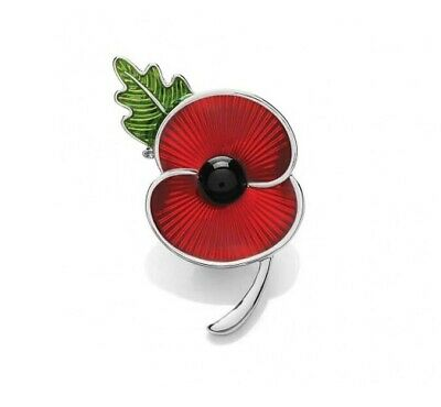 £7.99 • Buy Poppy Brooch White Gold Badge - Lest We Forget - Charity: Help For Heroes