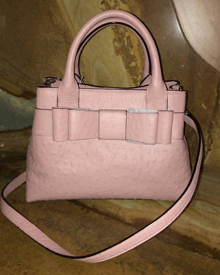 $ CDN167.94 • Buy New~Kate Spade~Provence Charm City Ostrich Leather Satchel Purse~Rosefrost Pink