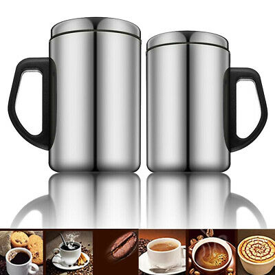 Stainless Steel Travel Mug Thermal Insulated Water Cup Bottle Tea Coffee Cup • 7.62£