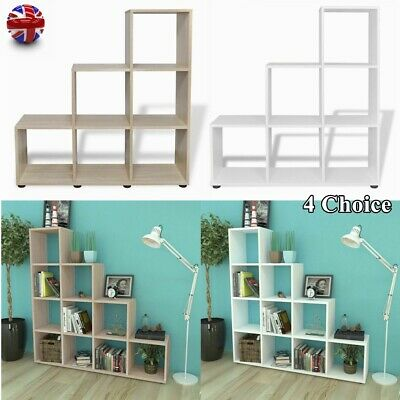 £63.65 • Buy Staircase Bookcase Wooden Display Shelving Unit Stand Storage Bookshelf Cabinet