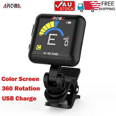 AU20.09 • Buy AROMA Rechargeable Rotatable Clip-on Electronic Tuner Color Screen 2021 New