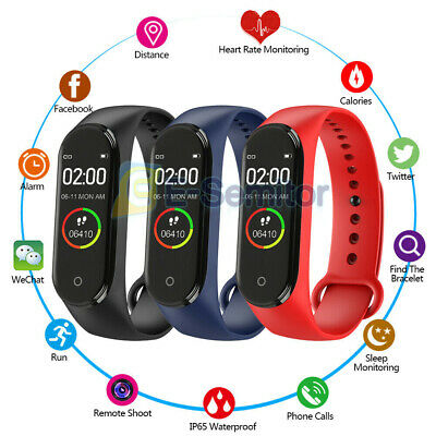 $ CDN9.22 • Buy M4 Waterproof Smart Band Heart Rate Monitor Bluetooth Wristband For Android IOS