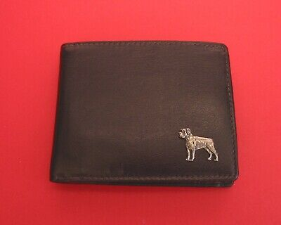 Boxer Dog Design Real Leather Dark Brown Wallet Pet Dog Fathers Day Xmas Gift • 27.99£