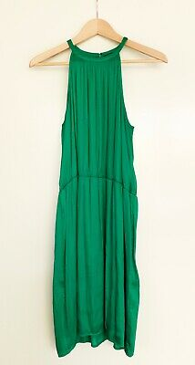 AU5 • Buy Storm Green Jade Emerald Halter Neck Cocktail Mini Dress - Size 10