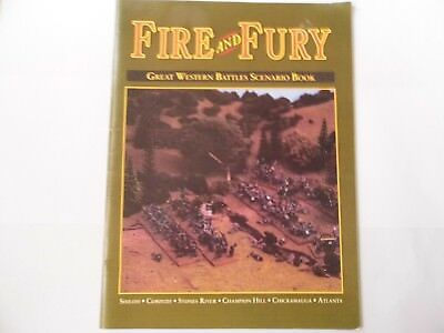 AU63.30 • Buy Fire And Fury Great Western Battles Scenario Book - Wargames Rules - New