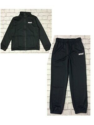 Nike Black Poly Track Top Full Zip Top Poly Track Top Pants Childrens Boys • 22.50£