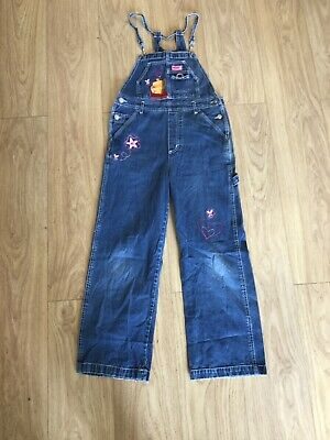 Girls Dungarees Age 12-13 Years Disney Winnie The Pooh Blue Denim D2047 • 16.99£
