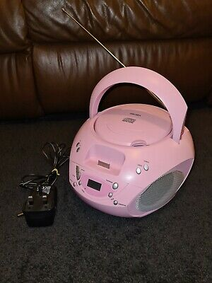 Bush CBB3i CD & Radio Pink Boombox Includes Built In Docking For Ipod Or Iphone • 18.99£