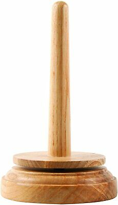 Trimits Classic Knit Wooden Spinning Yarn And Thread Holder, Wood, Brown • 9.77£