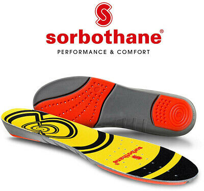 Sorbothane Double Strike Insoles | Heel & Forefoot Shock Absorption • 14.49£