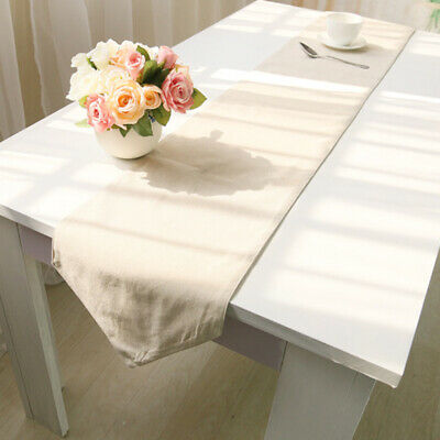 AU24.13 • Buy Table Runner Rectangle Cotton Linen Party Dining Table Cloth Cover Home Decor