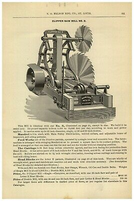 1895 PAPER AD 6PG Nelson Clipper Saw Mill St Louis Specs Hamilton • 39.35£