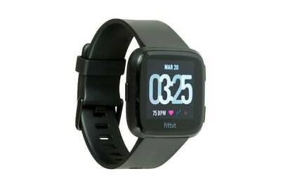 AU139.77 • Buy Fitbit Versa Fitness Activity Tracker Smartwatch Black + Charger Adapter