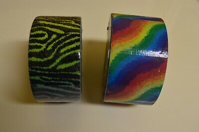$8.95 • Buy DUCK TAPE 10yd & TAPE TRENDZ 5.9yds RAINBOW  DESIGNS DUCT TAPE NEW, SEALED!