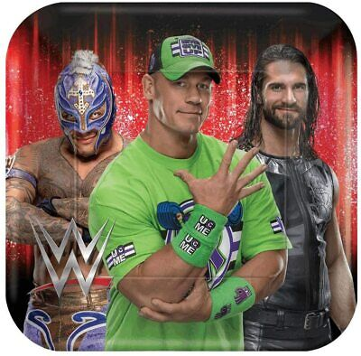 WWE Smash Party Paper Plates Birthday Favors  8 Pieces • 7.84£