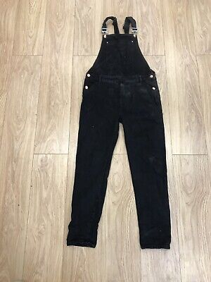 Girls Dungarees Age 13 To 14 Years Denim Co Black Denim D2061 • 14.99£
