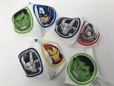£4.95 • Buy Adult Or Child Marvel Avengers Hulk Etc Face Cover Mask Washable New And Bagged