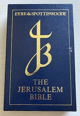 Eyre & Spottiswoode The Jerusalem Bible Jb2131sf Blue Leatherette • 17.99£