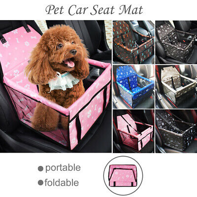 Dog Car Seat Booster / Cat Car Booster Seat  Foldable Seat Belt Pet Carrier UK • 6£