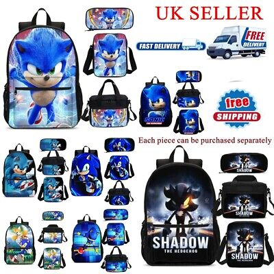 Sonic The Hedgehog Bags Set Shoulder Backpack Pencil Case School Bags Lunch Box • 6.99£