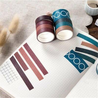 10 Rolls Simple Masking Tape Scrapbook Paper Adhesive Sticker Decorative TO • 2.74£