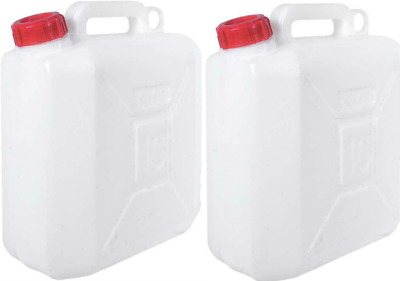 £16.95 • Buy 2X Water Storage Containers 10l Ltr Litre Carrier Spout Food Grade Jerry Can