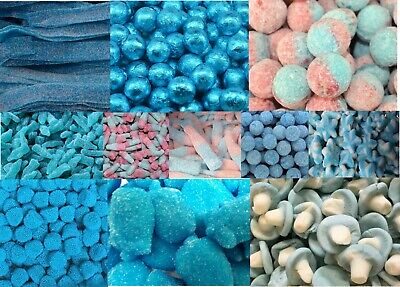 £7.49 • Buy Blue Themed Sweets Gummy Fizzy Boiled Boy Wedding Cart Baby Shower Party HALAL