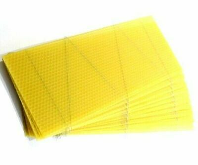 Brood Wired Bee Wax Foundation Sheets | British Standard National Beehive X 30 • 29.99£