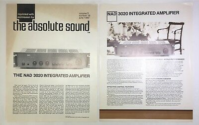 Original NAD 3020 Integrated Amplifier Promotional Material 1981 • 18.50£