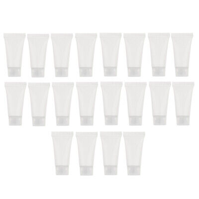 £3.61 • Buy 20x 5ml Hand Cream Squeeze Tubes Travel Refillable Sample Bottles Clear
