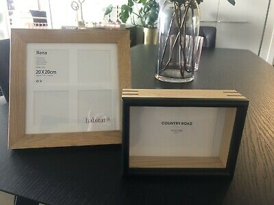AU25 • Buy Two Wooden Photo/picture Frames - Habitat & Country Road